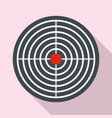 aim target icon flat style vector image vector image