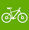 bike icon green vector image vector image