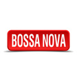 bossa nova red three-dimensional square button vector image
