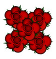 bouquet of red roses icon vector image vector image