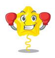 boxing star balloon was flown mascot sky vector image vector image