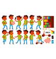 boy schoolboy kid poses set indian hindu vector image vector image