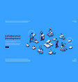 business concept collaborative development vector image