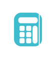 calculator business finance color silhouette vector image vector image
