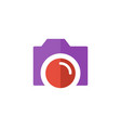 camera flat color icon vector image