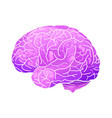 cartoon neon of a human brain with vector image vector image