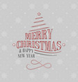 christmas and new year greeting card with vector image vector image