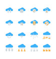 cloud technology icon set in flat design vector image