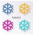 colorful snowflake labels vector image