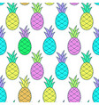 colorful tasty pineapple pattern in pop-art style vector image vector image