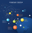 company profile overview template with colorful vector image vector image