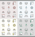 conference flat line icons for graphic and web vector image vector image