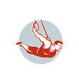 Crossfit Athlete Muscle-Up Gymnastics Ring Retro vector image
