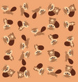 cute chipmunk pattern background vector image vector image