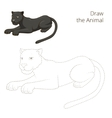 Draw the animal panther educational game vector image