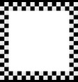 empty squarish checkered frame border vector image