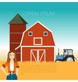 Farm banner and a woman vector image