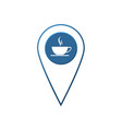 flat coffee location label designcheck in coffee vector image