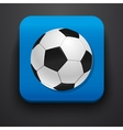 Football symbol icon on blue vector image vector image
