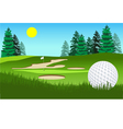 Golf fairway shot vector image vector image