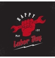 happy labor day first may vintage poster vector image