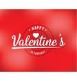 Happy Valentines day typography design vector image vector image