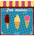 ice cream set popsicles and cones decoration and vector image