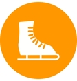 Ice Skating Shoe vector image vector image