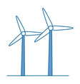 isolated wind energy vector image vector image