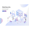 landing page template data security isometric vector image vector image