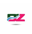 Letter d and z logo vector image vector image