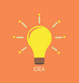 light bulb icon idea flat vector image