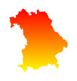 map of bavaria vector image vector image