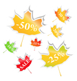 maple stickers vector image vector image