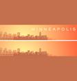 minneapolis beautiful skyline scenery banner vector image vector image