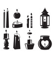 monochrome symbols candles for birthday vector image vector image