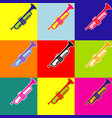 musical instrument trumpet sign pop-art vector image vector image