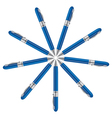 navy ball pens vector image vector image