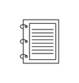 Outline notebook icon vector image