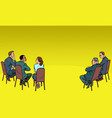 people at a business meeting businessman vector image