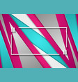 pink and turquoise corporate abstract background vector image vector image