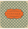 Polka vintage background vector