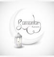 ramadan kareem islamic design crescent moon on vector image vector image