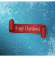 Realistic curved red Christmas Ribbon on Ice vector image vector image