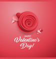 rose bud greeting card template vector image vector image