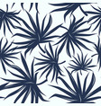 seamless pattern with tropical palm tree leaves vector image vector image