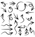 Set hand drawn arrows doodle design elements