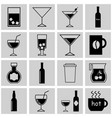 set icons of drinks vector image vector image