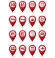 Set of 16 Services and Entertainment icons vector image