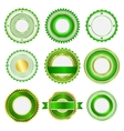 Set of badges labels and stickers in green vector image vector image